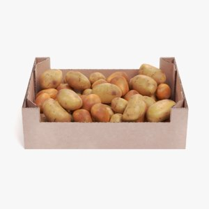 potatoes box 3D
