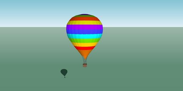 3D hot air ballon model