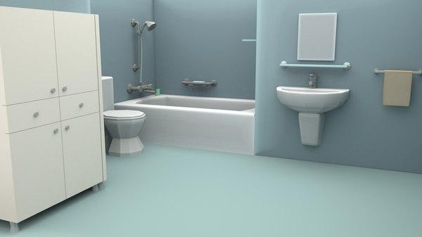 3D bathroom room bath