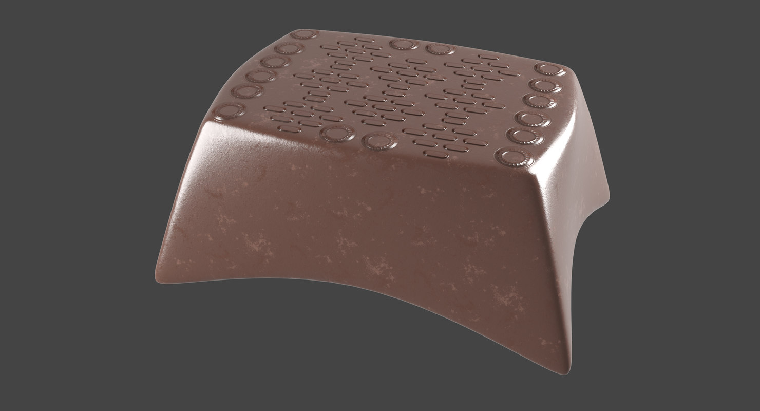 3D chocolate snack model
