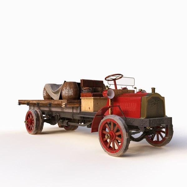 3D car packard 2 ton model