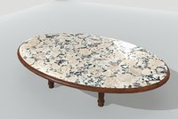 3D table marble 3