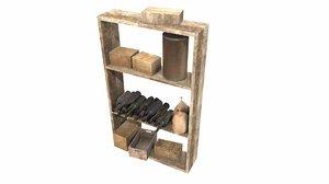 3D old shelf model