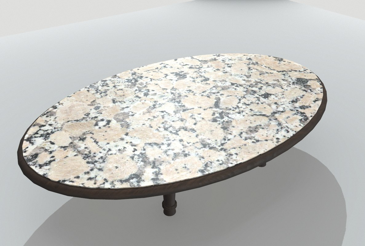 3D table marble model