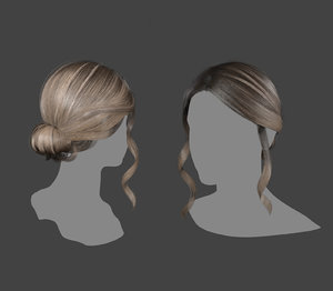 3D realtime hair model