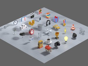 30 pictograms icons model