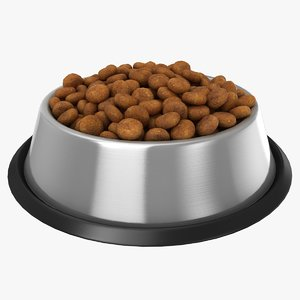 bowl dog food 3D