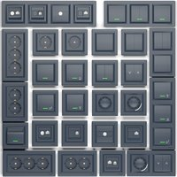 Set of sockets and switches schneider electric series Asura