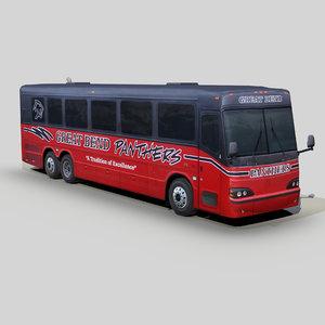 blue bird ltc40 coach bus 3D model