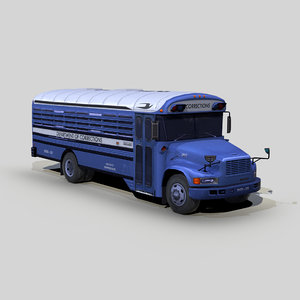 international 3800 corrections bus 3D