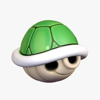 turtle shell green super mario 3D model