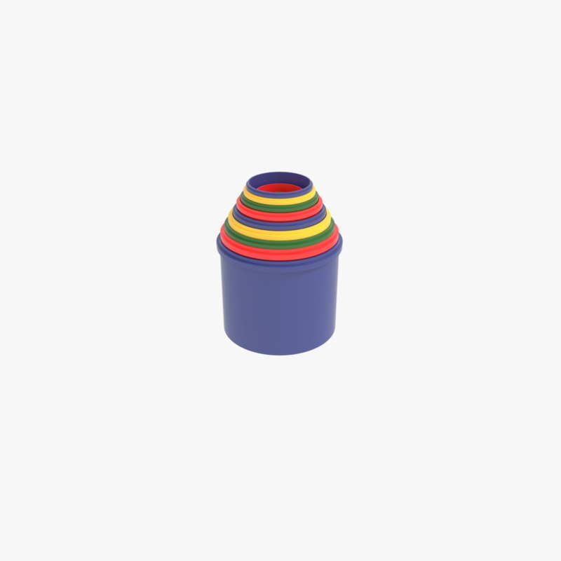 plastic stacking cups 3D model
