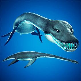 3D model ocean plesiosaur animation ue4