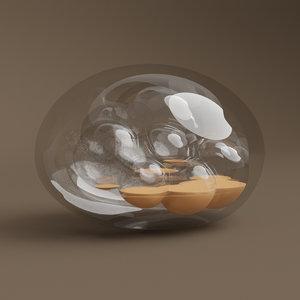 glass sone art 3D model
