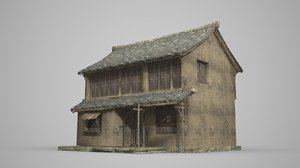 3D ancient double-storey residential