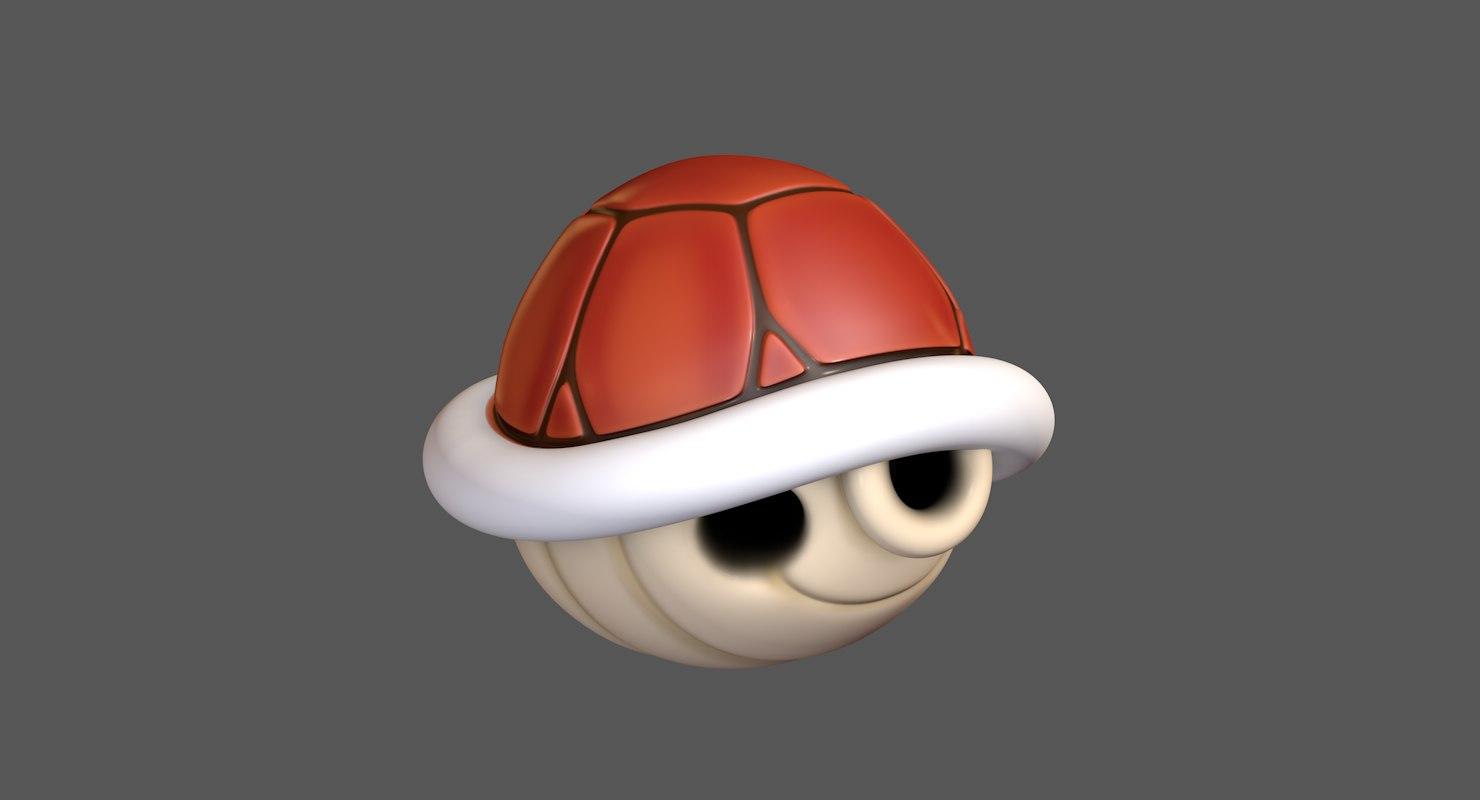turtle koopa troopa shell 3D model