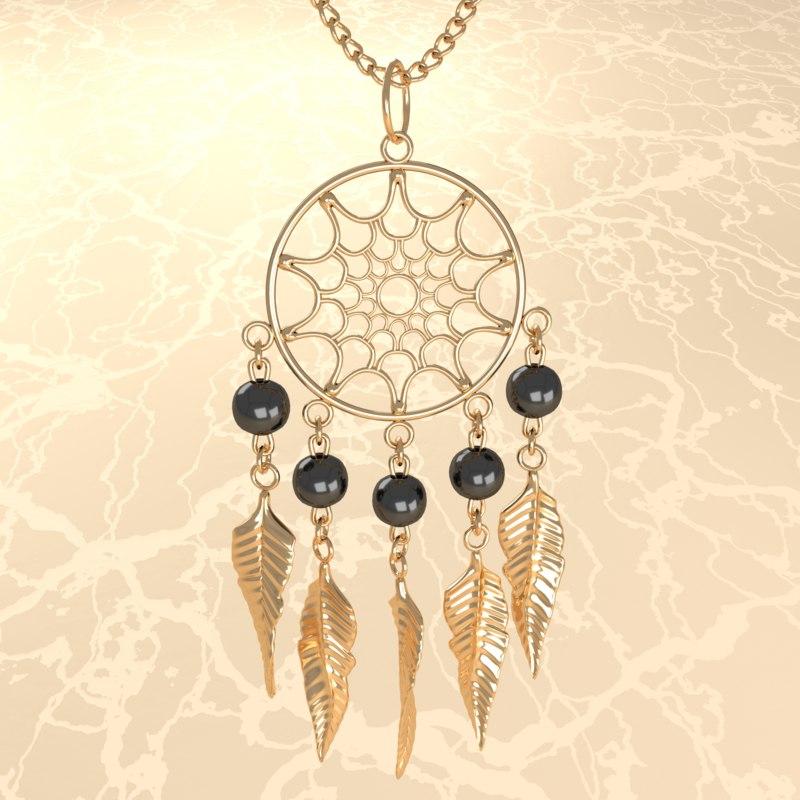 pendant jewelry necklace 3D model