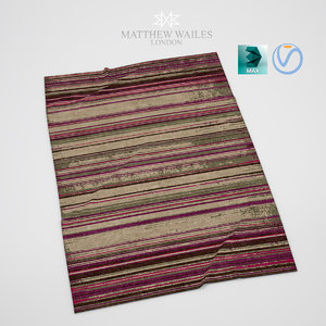 realistic faded rug 3ds