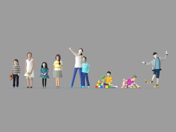 3D model kid character