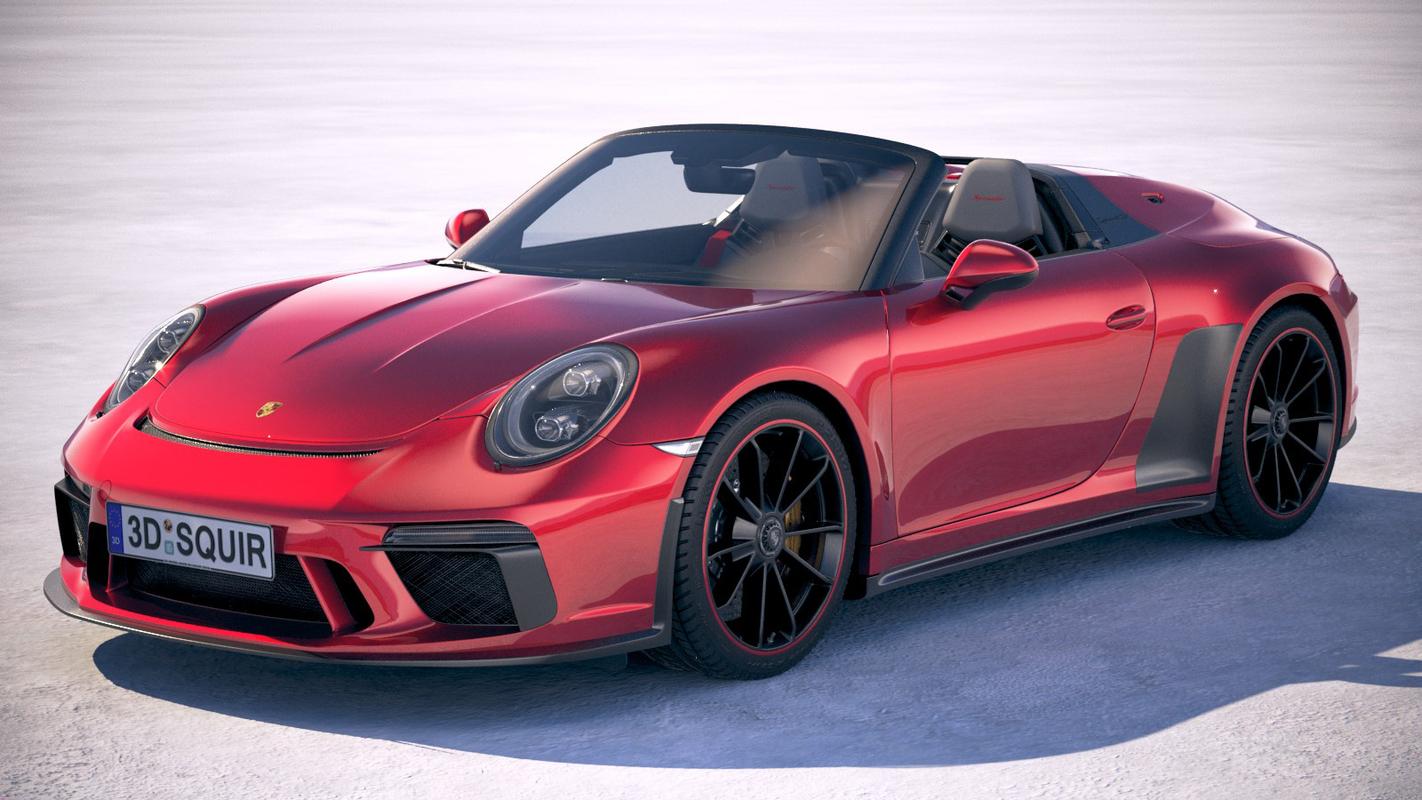 3D porsche 911 speedster model