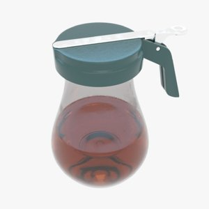 3D restaurant syrup dispenser model