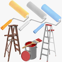 wall painting tools 3D