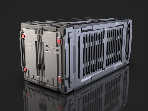 sci-fi industrial container 3D model