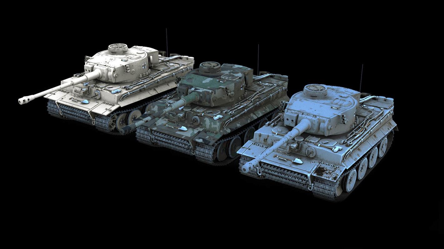 tiger tanks 3D model