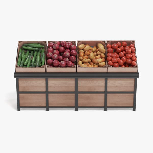 3D vegetable stand model