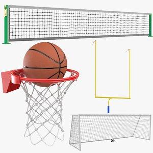 real sports nets 3D model