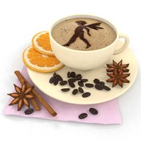 coffee orange anise 3D