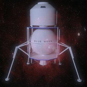 blue moon spacecraft 3D model