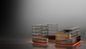 design island trade shopping center 3D model