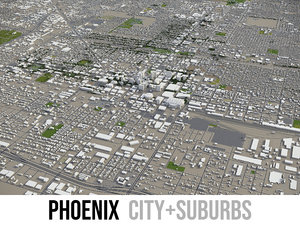 city phoenix surrounding area 3D model