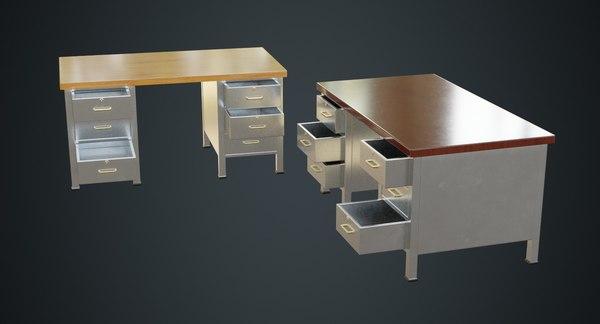 desk 1b 3D model