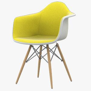 3D eames dsw plastic armchair