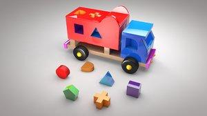 3D wooden toy track sorter