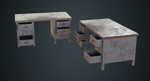 desk 1d 3D model