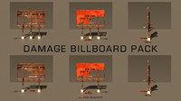 damage billboard pack 3D model