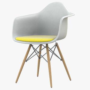 3D eames dsw plastic armchair model