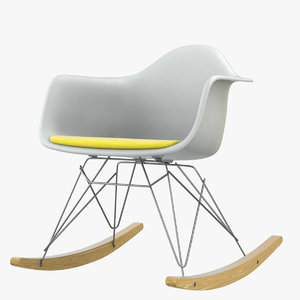 eames dsw plastic rocking 3D model