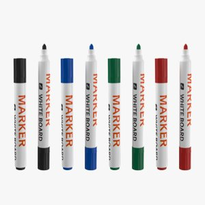 3D model markers white board