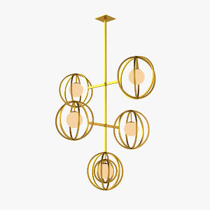 emmemobili copernico chandelier 3D model
