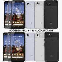3D realistic google pixel 3a model
