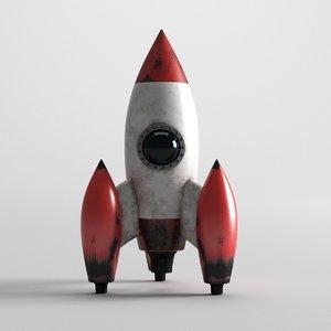 old rocket 3D model