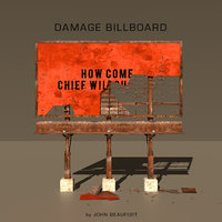 3D damage billboard model