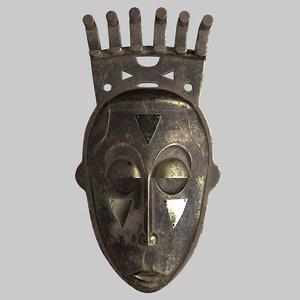 old mask african 3D model