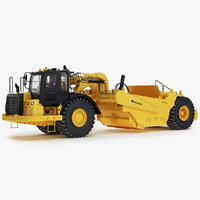 wheel tractor-scrapers 3D
