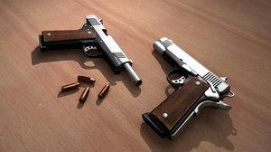 3D model m1911 pistol