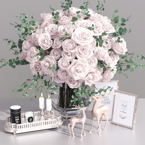 3D bouquet rose flower decorative
